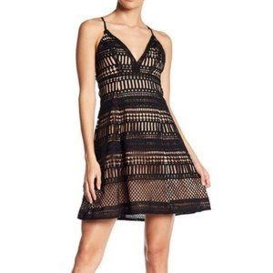 ASTR the Label Crochet Strappy Lace-Up Aline Dress